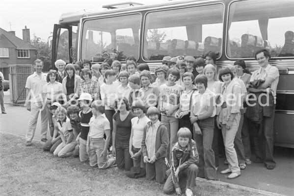 Grange School pupils off to Holland ,July 1978
