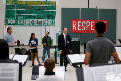 LISD's new superintendent, Dr. Dan Troxell, toured Cedar Park High School Monday, Aug. 29, during his first week on the job.
