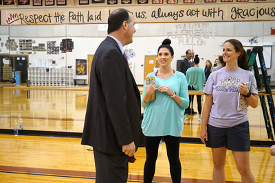 LISD's new superintendent, Dr. Dan Troxell, toured Rouse High School Monday, Aug. 30, during his first week on the job.