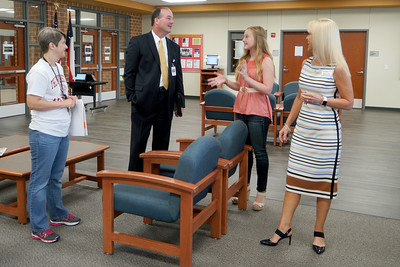 LISD's new superintendent, Dr. Dan Troxell, toured Vandegrift High School Wednesday, Aug. 31, during his first week on the job.