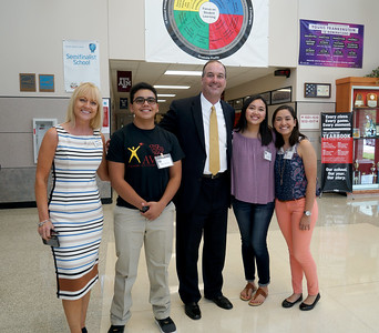 LISD's new superintendent, Dr. Dan Troxell, toured Vista Ridge High School Wednesday, Aug. 31, during his first week on the job.