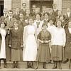 Students on the Steps of Lynchburg High School V (07195)