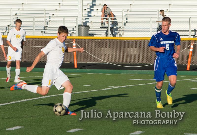 NBHS Boys Soccer vs Sutherlin - 0471
