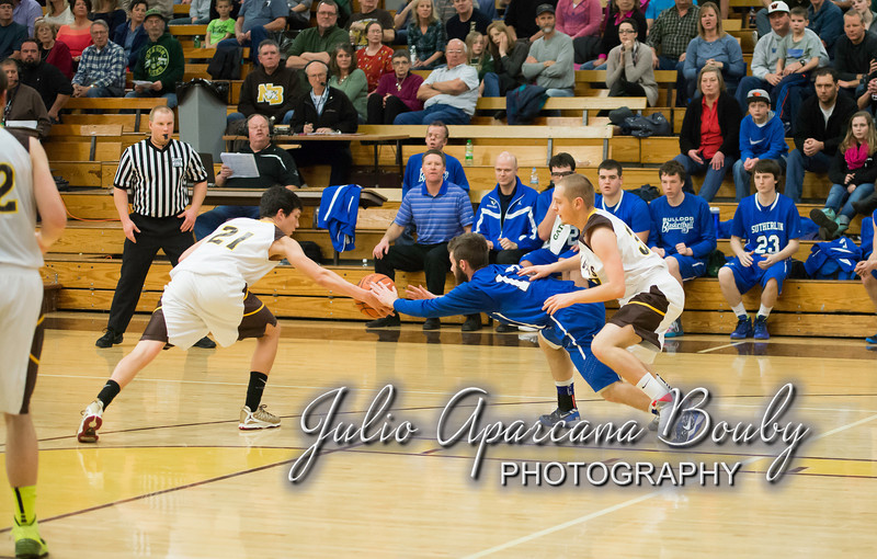 NBHS Boys Basketball vs Sutherlin - 0401