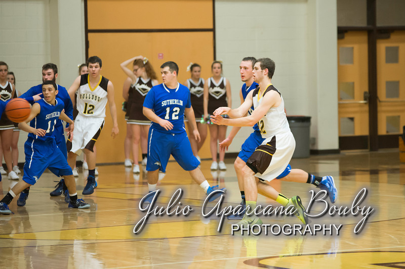 NBHS Boys Basketball vs Sutherlin - 0453