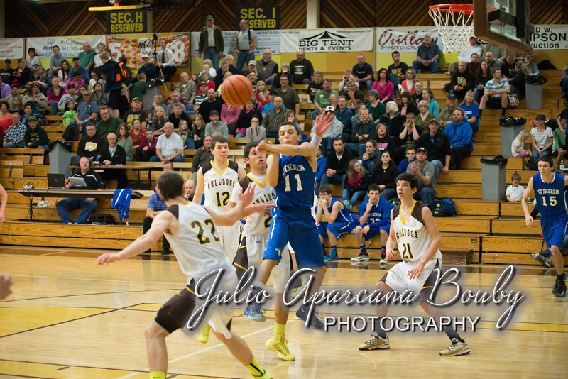 NBHS Boys Basketball vs Sutherlin - 0408