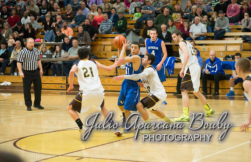 NBHS Boys Basketball vs Sutherlin - 0402