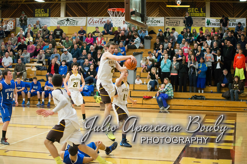 NBHS Boys Basketball vs Sutherlin - 0428