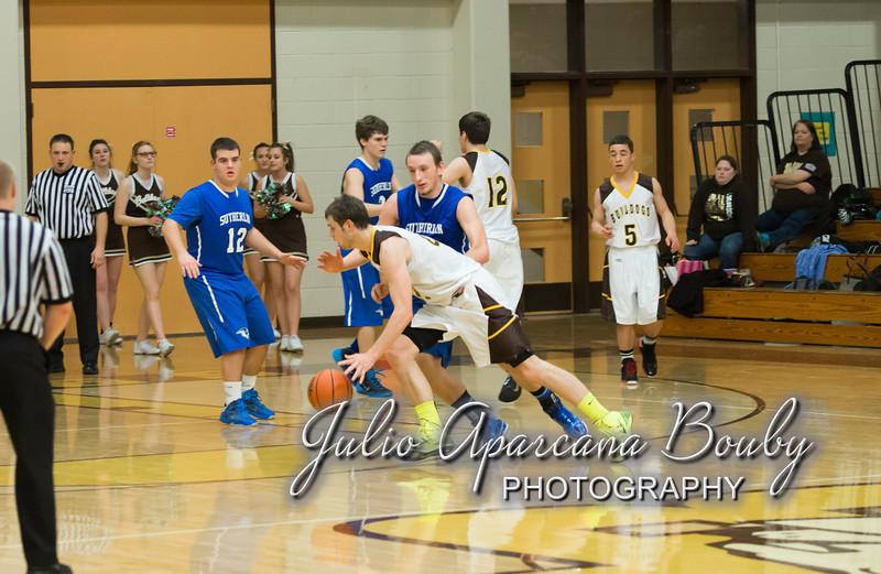 NBHS Boys Basketball vs Sutherlin - 0358