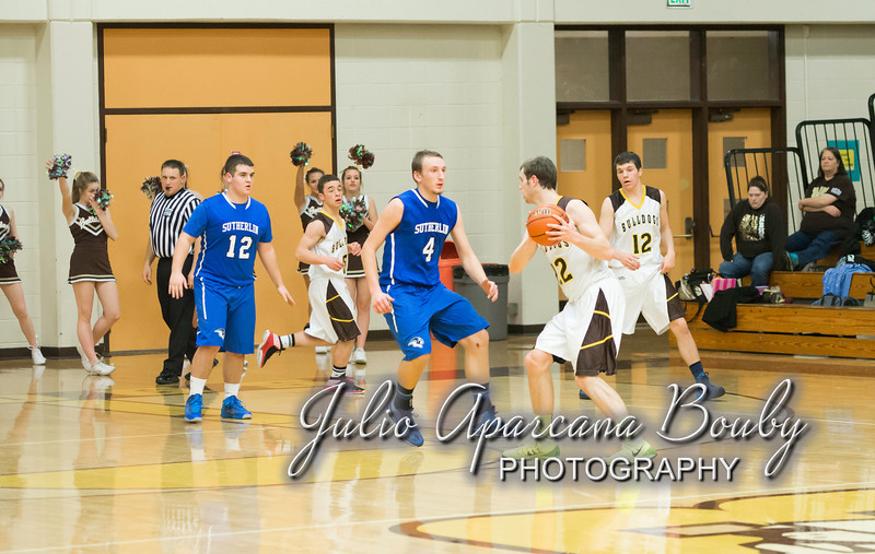 NBHS Boys Basketball vs Sutherlin - 0357