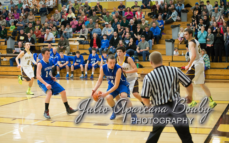 NBHS Boys Basketball vs Sutherlin - 0421