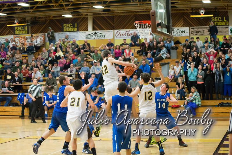 NBHS Boys Basketball vs Sutherlin - 0423