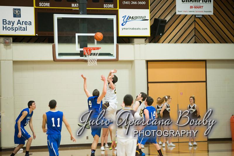 NBHS Boys Basketball vs Sutherlin - 0406