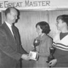1968 Spelling Bee Winners - Mary Howard Yancey and Phillip Flesher with Superintendent Lossie Gaskins