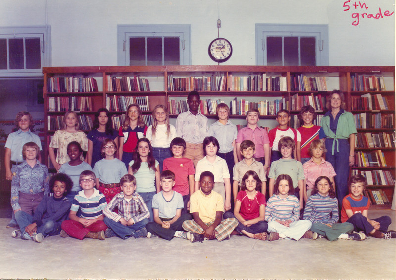 Anne Gaskins' 5th Grade Homeroom at Nashville Elementary School,  1977-78<br /> Front row (l-r): Scotty Shaw, Stanley Gaskins, Todd  Heath, David  Mitchell, Larry Bazin, Ann Vaughn, Melissa Luke, Rita Duren, and Greg  Hall.<br />  2nd row (l-r): Timmy Story, Songelyn McCann, Sarah Ellen Waller,  Penny Morton, William Crosby, Melissa  Thomas, Lonnie Barrentine, Greg  Stone, and Ann  Jordan.<br /> 3rd row (l-r): Timmy Brooks, Melissa King, Mai Nguyen,  Lou Parker  Whidden, Cindy Knight, W.C. Williams, Todd  Lanier, Skeeter Parker,  James Exum, Kevin Burnes, and Anne Gaskins. Not shown was Kim Hunt.