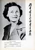 NHS 1953 Yearbook Dedication to Mrs. H. H. Carlton.