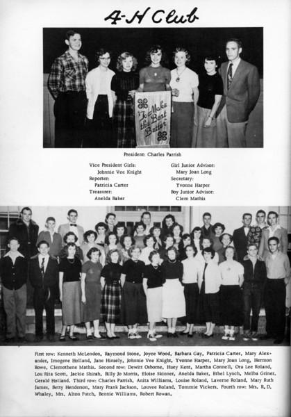 NHS 1953 4-H Club.