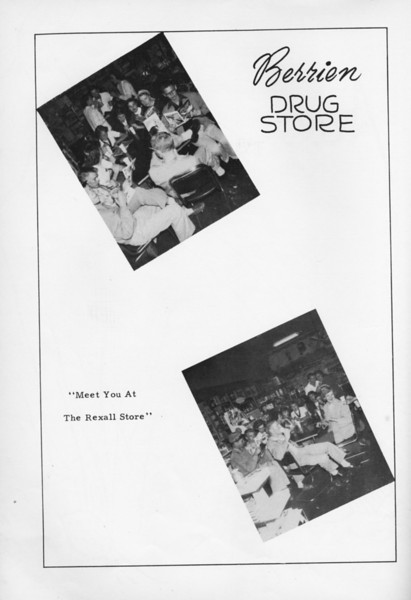 Berrien Drug Store, 1953.