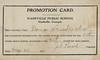 Dona Hendricks Promotion Card, Nashville Public School. (Courtesy of Dona Gaskins Fields)