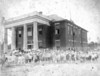 Nashville Public School, after 1912. (Note the water tower to left). (Courtesy of Betty Hunter Zeigler)