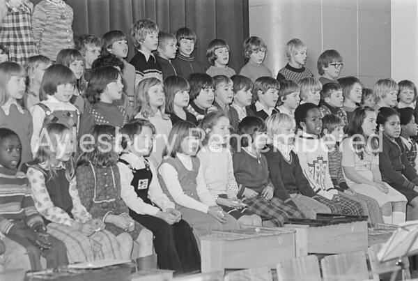 Oak Green County Junior School carols, Dec 1975