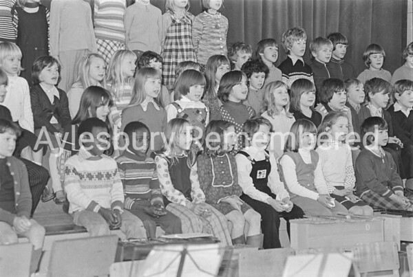 Oak Green County Junior School carols, Dec 1975