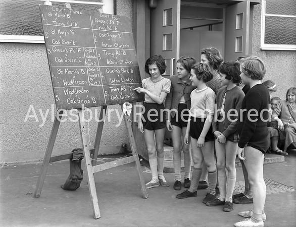 Netball at Oak Green County Junior School, Mar 31st 1960