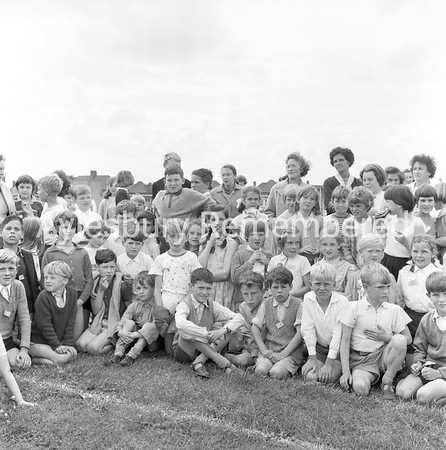 Oak Green County Junior School sports, June 1963