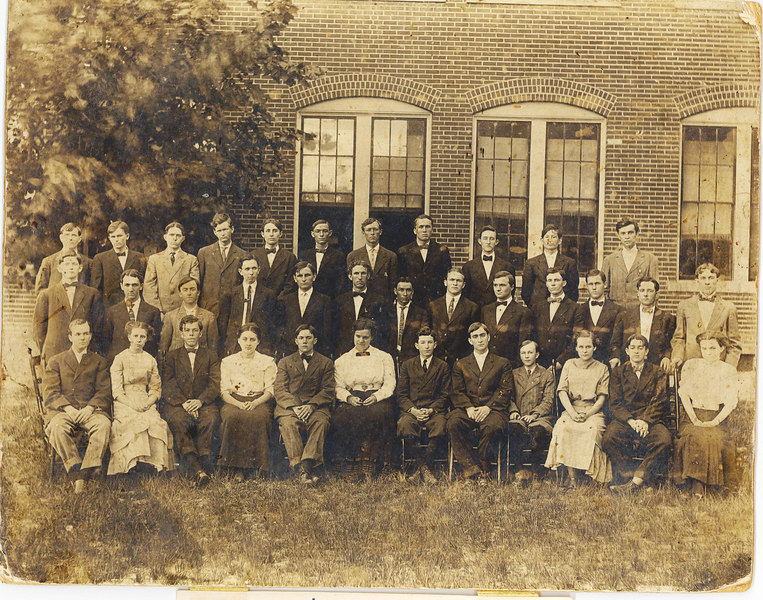 Georgia Normal College and Business Institute in Albany, Georgia, 1911. Ray City native, Hod P. Clements is on the back row, 3rd from the left.
