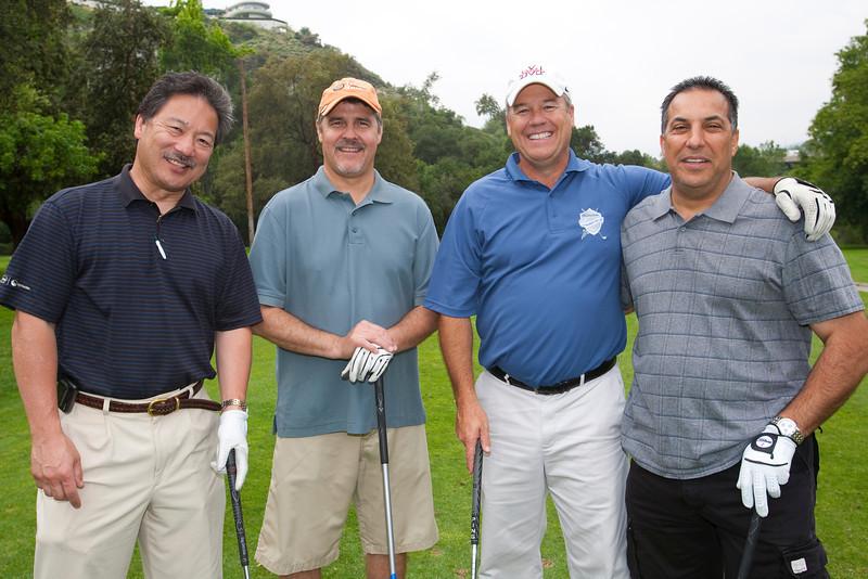 Alan Yamada, Golf Committee Chairman Mike Guevara, Doug Elffers, Greg Ajalat