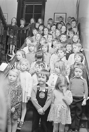 Prebendal School carol singing, Dec 1973