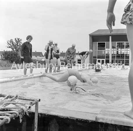 Swimming at Quarrendon County Secondary School, June 28th 1962