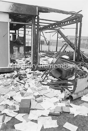 Classroom fire at Quarrendon County Secondary School, Oct 1973