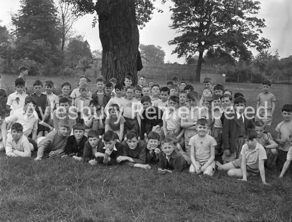 Queens Park Junior School sports, June 1956