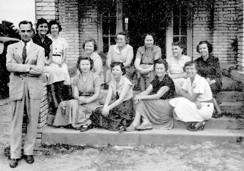 Ray City School, 1950-51 Faculty:<br /> C. W. Schmoe, Mrs. B.L. Johnson, Mrs. M.M. Johnson, Mrs. C.W. Schmoe; Elementary: Mrs. G.L. Webb, Mrs. M.L. Carter, Mrs. T.P. Patten, Miss Barbara Comer, Mrs. J.R. Zeigler, Miss Jean Ellerbee, Mrs. Emory Taylor, Mrs. Edwin Smith.