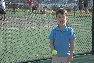 The first tennis match of the season...