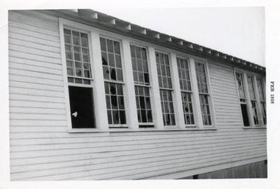 Broken Windows in Old School Building  (00534)