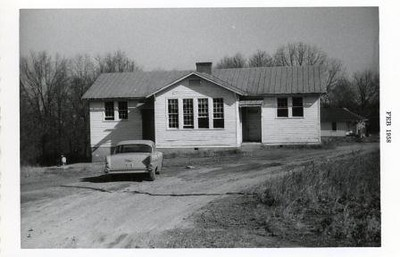 Old School House and Car (00536)