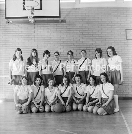Sir Henry Floyd Grammar School, girls basketball Mar 1972