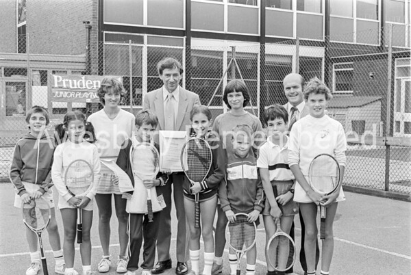 Junior Tennis sponsored by Prudential at SHFGS, Aug 1984