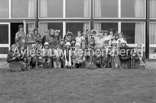 Toad of Toad Hall play at Sir Henry Floyd Grammar School, Dec 1981