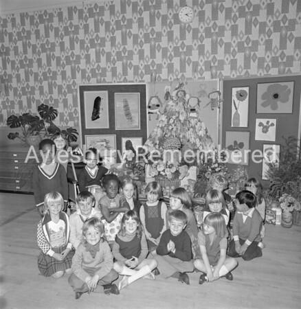 Southcourt Infant School Harvest Festival, Oct 1977