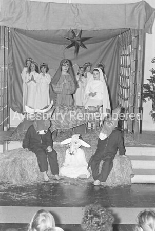 St Josephs School Xmas party rehearsal, Dec 1975