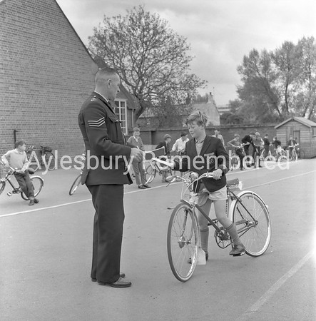 Cycling tests at St Mary's School, May 1963