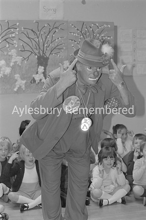 Road Safety with Pierre The Clown at St Mary's School, June 1981