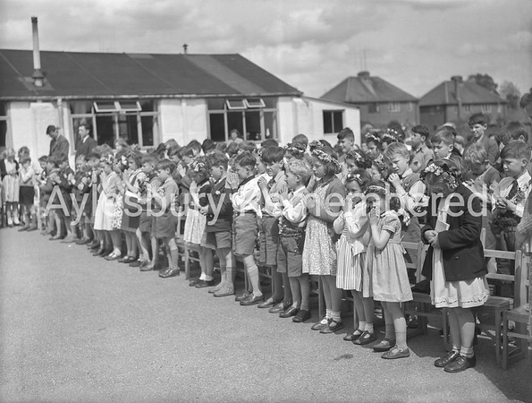 Tring Road County Primary School party, May 20th 1953