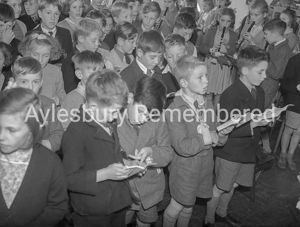 Tring Road County Primary School Harvest Festival, Sep 23rd 1953