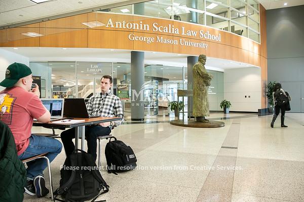 Students study on Arlington Campus.Photo by:  Ron Aira/Creative Services/George Mason University