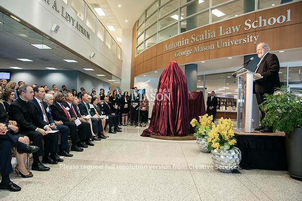 Unveiling of the Antonin Scalia Statue