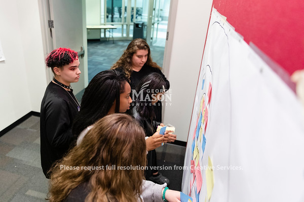 High school students participate in Courageous Conversations at George Mason University. Photo by Lathan Goumas/Office of Communications and Marketing   Photo Taken:Friday, October 25, 2019